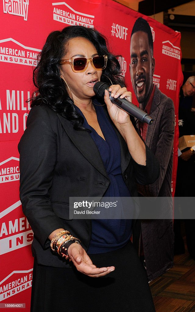 Singer <a gi-track='captionPersonalityLinkClicked' href=/galleries/search?phrase=Jody+Watley&family=editorial&specificpeople=1186444 ng-click='$event.stopPropagation()'>Jody Watley</a> speaks during the first annual Soul Train Celebrity Golf Invitational presented by Hennessy at the Las Vegas Paiute Golf Resort on November 9, 2012 in Las Vegas, Nevada.