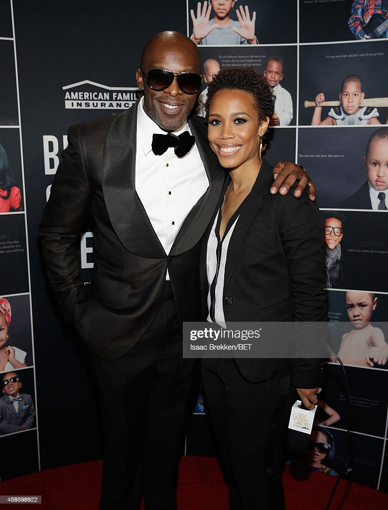 Singer Joe and photographer Eunique Jones attend the 2014 Soul Train Music Awards at the Orleans Arena on November 7 2014 in Las Vegas Nevada