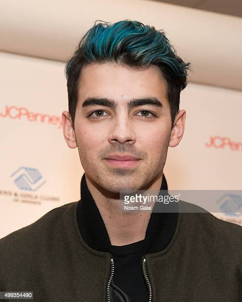 Singer Joe Jonas attends JCPenney's #GIVETUESDAY with the Queens Boys Girls Club at JCPenney Brooklyn Gateway on November 30 2015 in New York City