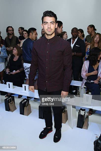 Singer Joe Jonas attends the Richard Chai fashion show during New York Fashion Week Men's S/S 2016 at Skylight Clarkson Sq on July 15 2015 in New...