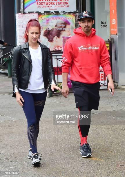 Singer Joe Jonas is seen walking in Soho with a friend on April 26 2017 in New York City