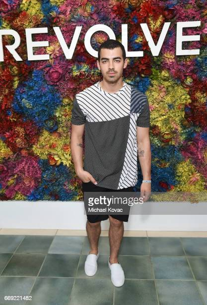 Singer Joe Jonas of DNCE attends the #REVOLVEfestival at Coachella with Moet Chandon on April 16 2017 in La Quinta CA Merv Griffin Estate