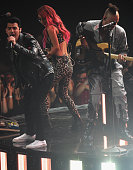Singer Joe Jonas of DNCE performs onstage at the iHeartRadio Music Awards which broadcasted live on TBS TNT AND TRUTV from The Forum on April 3 2016...