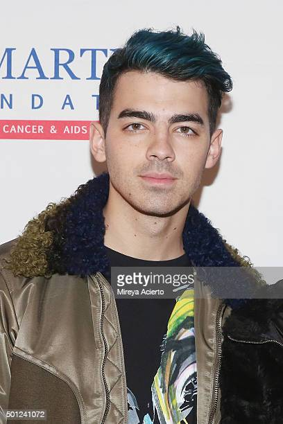 Singer Joe Jonas of music group DNCE attends the 16th Annual TJ Martell Foundation New York Family Day at Brooklyn Bowl on December 13 2015 in New...