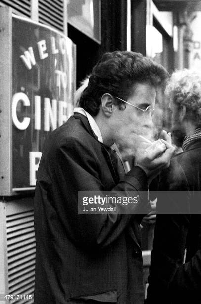 Singer Joe Strummer of British punk group The Clash outside Cinema Blue in Dean Street Soho London following a press reception for the band's latest...