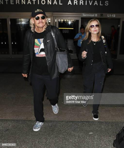Singer Joe Walsh and his wife Marjorie Bach are seen on September 12 2017 in Los Angeles California