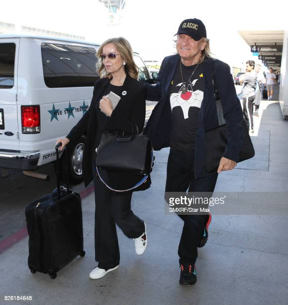 Singer Joe Walsh and Marjorie Bach seen on August 3 2017 in Los Angeles California