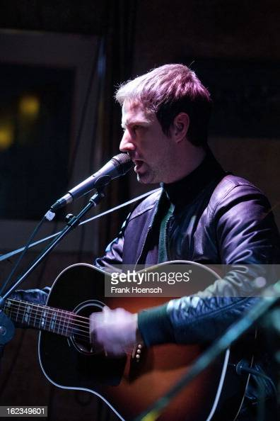 Singer Joel Stoker of The Rifles performs live during a concert at the Restaurant O on February 21 2013 in Berlin Germany