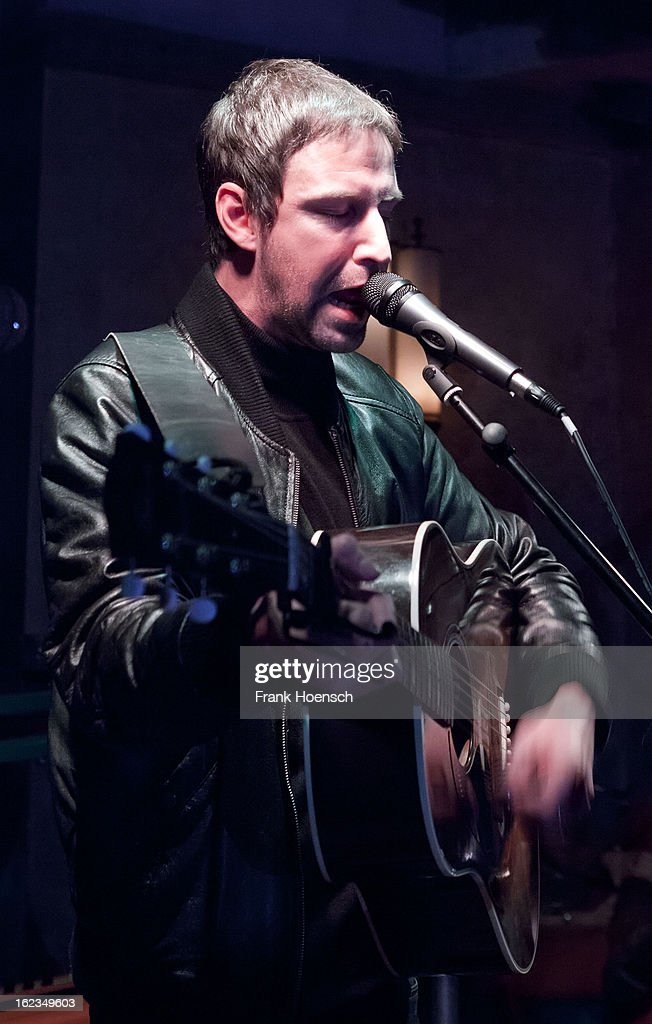 Singer Joel Stoker of The Rifles performs live during a concert at the Restaurant O on February 21, 2013 in Berlin, Germany.
