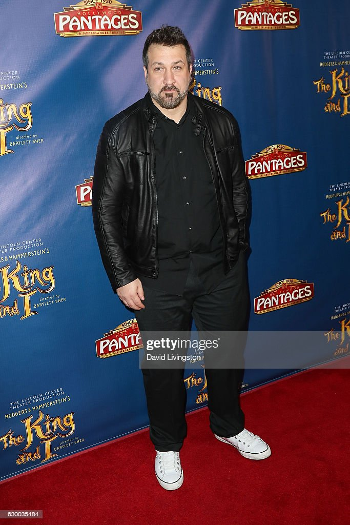Singer Joey Fatone arrives at the Opening Night of The Lincoln Center Theater's Production Of Rodgers and Hammerstein's 'The King and I' at the Pantages Theatre on December 15, 2016 in Hollywood, California.