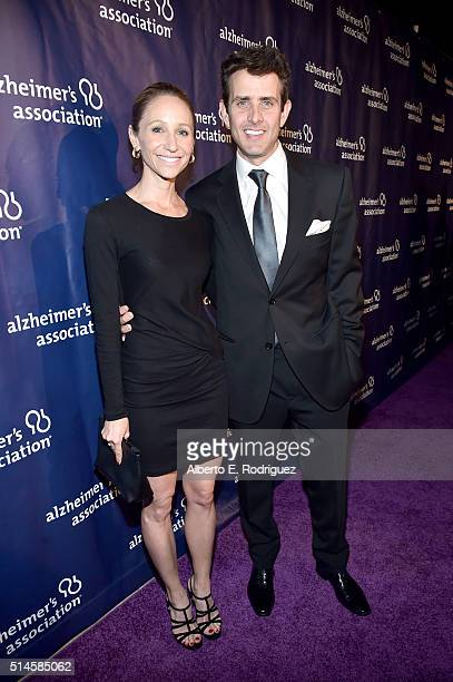 Singer Joey McIntyre and Barrett Williams attend the 24th and final 'A Night at Sardi's' to benefit the Alzheimer's Association at The Beverly Hilton...