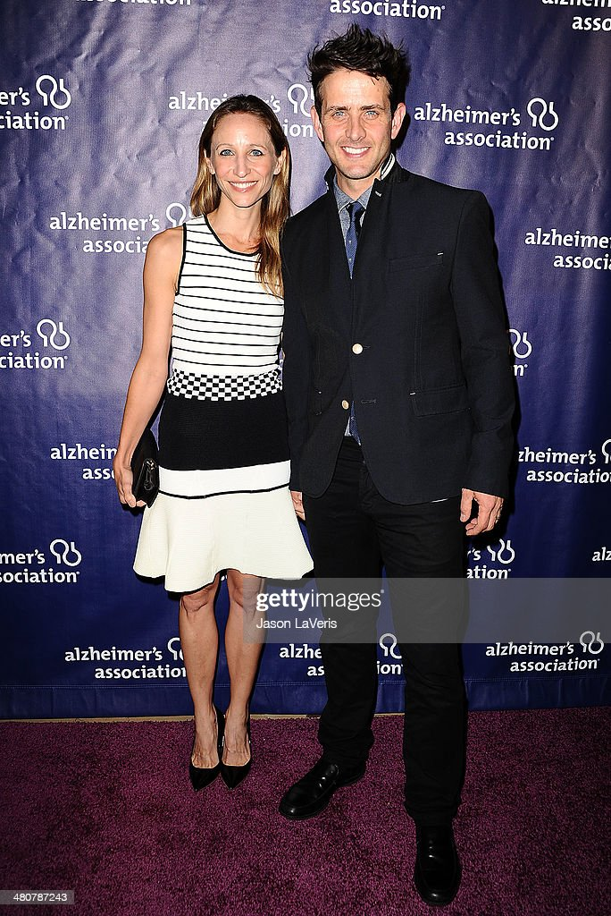 Singer Joey McIntyre (R) and wife Barrett Williams attend the 22nd 'A Night At Sardi's' at The Beverly Hilton Hotel on March 26, 2014 in Beverly Hills, California.