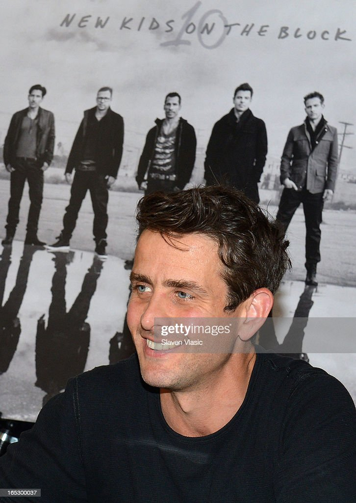 Singer <a gi-track='captionPersonalityLinkClicked' href=/galleries/search?phrase=Joey+McIntyre&family=editorial&specificpeople=650190 ng-click='$event.stopPropagation()'>Joey McIntyre</a> of New Kids on the Block attends the New Kids on the Block fan meet and greet at J&R Music World on April 2, 2013 in New York City.