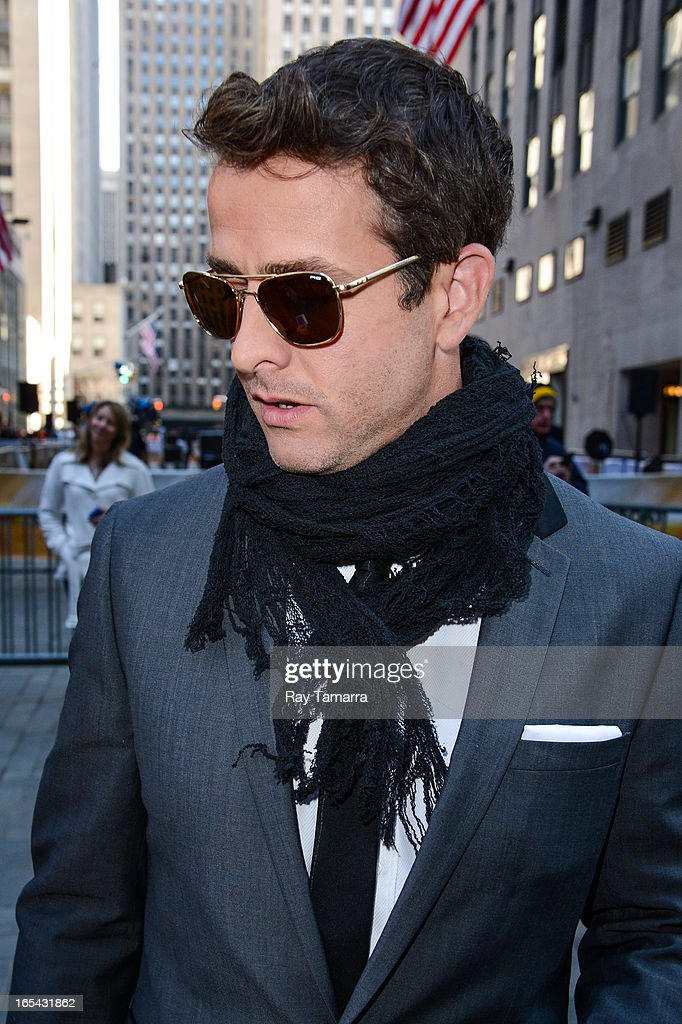 Singer Joey McIntyre of New Kids On The Block leaves the 'Today Show' taping at the NBC Rockefeller Center Studio on April 3, 2013 in New York City.