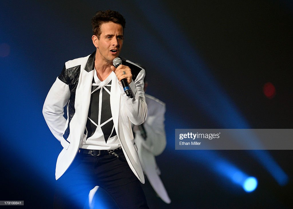 Singer <a gi-track='captionPersonalityLinkClicked' href=/galleries/search?phrase=Joey+McIntyre&family=editorial&specificpeople=650190 ng-click='$event.stopPropagation()'>Joey McIntyre</a> of New Kids on the Block performs at the Mandalay Bay Events Center during The Package Tour on July 6, 2013 in Las Vegas, Nevada.