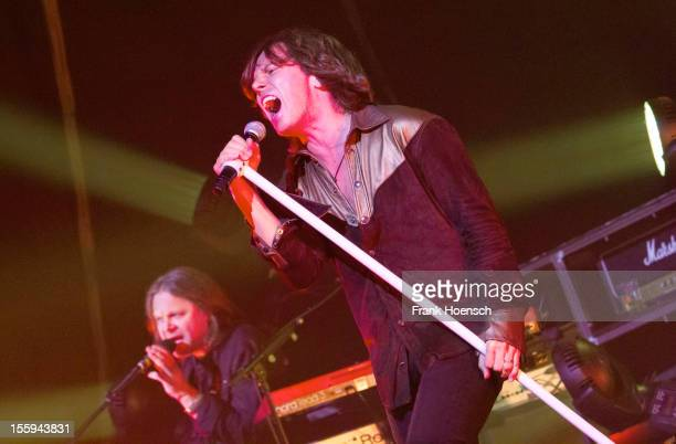 Singer Joey Tempest of Europe performs live during a concert at the Columbiahalle on November 9 2012 in Berlin Germany