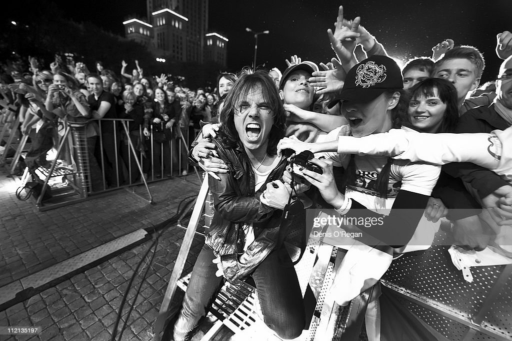 Singer <a gi-track='captionPersonalityLinkClicked' href=/galleries/search?phrase=Joey+Tempest&family=editorial&specificpeople=1568222 ng-click='$event.stopPropagation()'>Joey Tempest</a> of Swedish hard rock band Europe live in Warsaw, 2010.