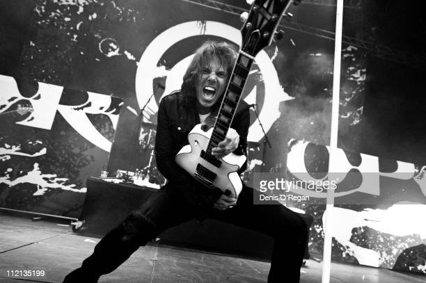 Singer Joey Tempest of Swedish hard rock band Europe live in Warsaw 2010