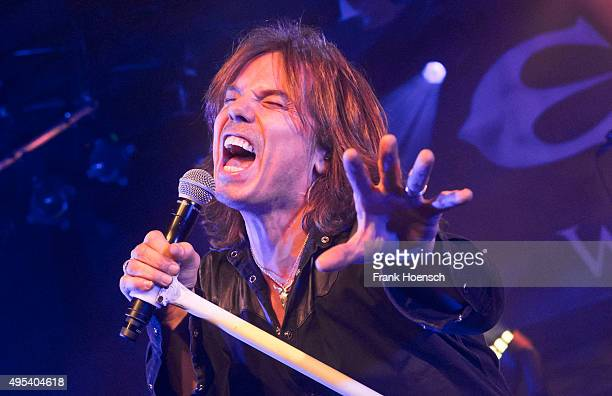 Singer Joey Tempest of the Swedish band Europe performs live during a concert at the Astra on November 2 2015 in Berlin Germany