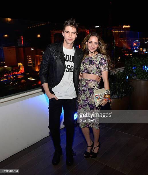 Singer Johann Vera and singer Mirella Cesa attend the Roc Nation Latin Grammy Midnight Brunch at the Nobu Hotel Caesars Palace on November 16 2016 in...