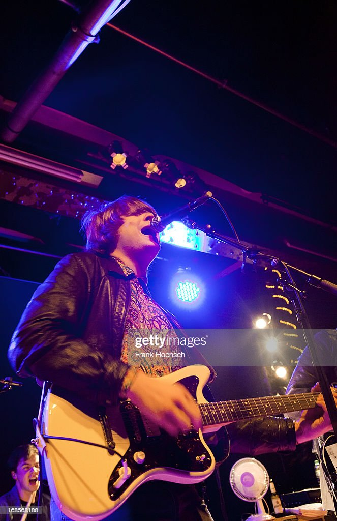 Singer Johannes Leppaenen of French Films performs live during a concert at the Postbahnhof on May 11, 2013 in Berlin, Germany.