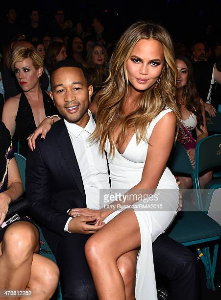 Singer John Legend and host Chrissy Teigen attend the 2015 Billboard Music Awards at MGM Grand Garden Arena on May 17 2015 in Las Vegas Nevada