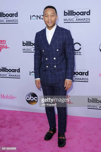 Singer John Legend arrives at the 2017 Billboard Music Awards at TMobile Arena on May 21 2017 in Las Vegas Nevada