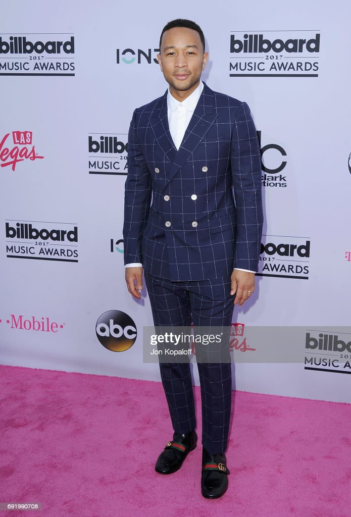 Singer John Legend arrives at the 2017 Billboard Music Awards at T-Mobile Arena on May 21, 2017 in Las Vegas, Nevada.