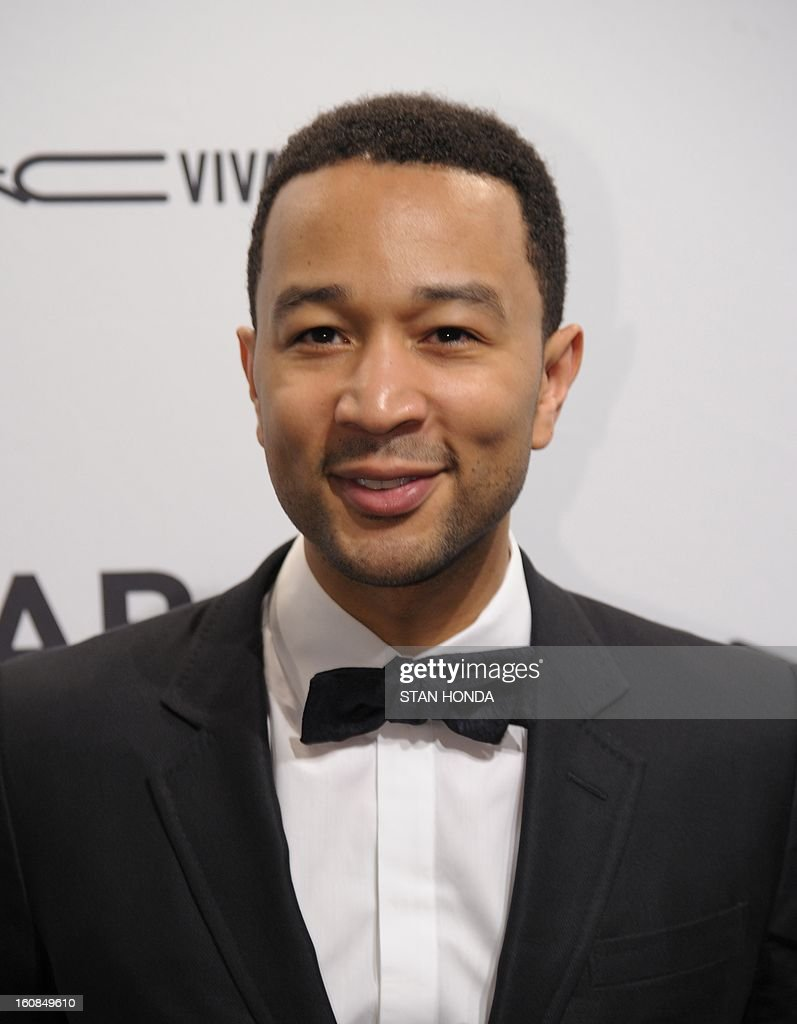Singer John Legend arrives at the amfAR (The Foundation for AIDS Research) gala that kicks off the Mercedes-Benz Fashion Week February 6, 2013 in New York. AFP PHOTO/Stan HONDA