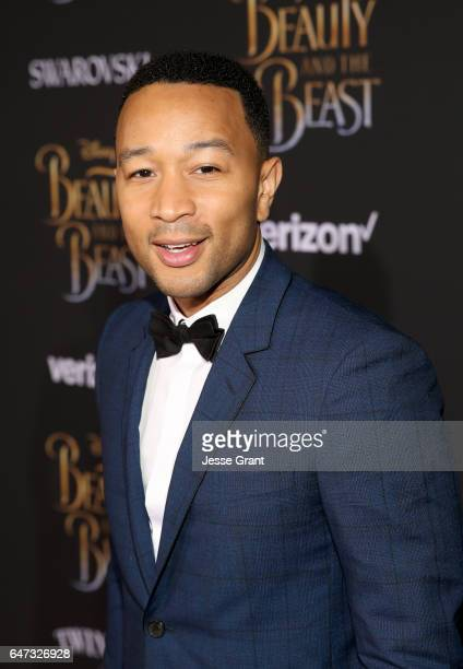 Singer John Legend arrives for the world premiere of Disney's liveaction 'Beauty and the Beast' at the El Capitan Theatre in Hollywood as the cast...