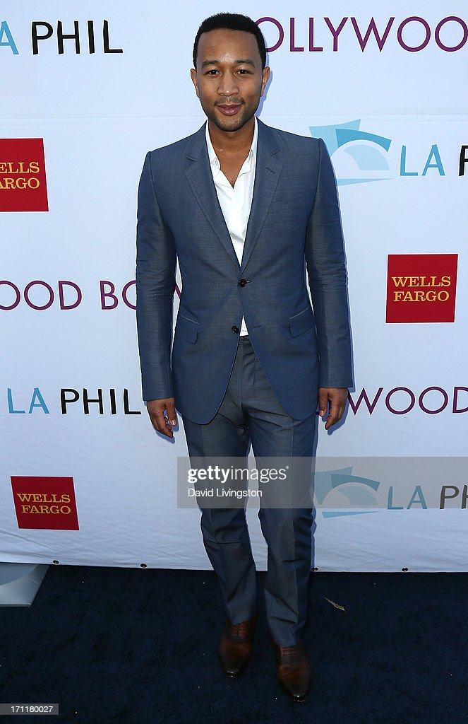 Singer <a gi-track='captionPersonalityLinkClicked' href=/galleries/search?phrase=John+Legend&family=editorial&specificpeople=201468 ng-click='$event.stopPropagation()'>John Legend</a> attends Opening Night at The Hollywood Bowl 2013 at The Hollywood Bowl on June 22, 2013 in Los Angeles, California.