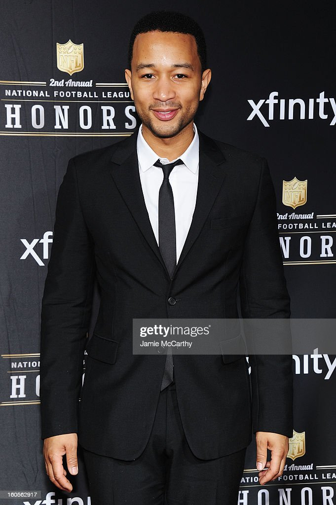 Singer John Legend attends the 2nd Annual NFL Honors at Mahalia Jackson Theater on February 2, 2013 in New Orleans, Louisiana.