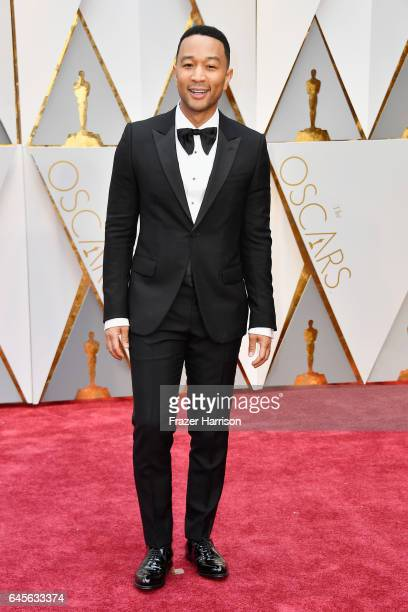 Singer John Legend attends the 89th Annual Academy Awards at Hollywood Highland Center on February 26 2017 in Hollywood California