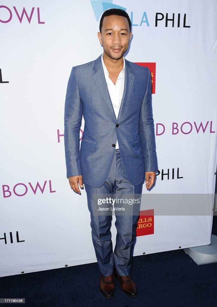 Singer <a gi-track='captionPersonalityLinkClicked' href=/galleries/search?phrase=John+Legend&family=editorial&specificpeople=201468 ng-click='$event.stopPropagation()'>John Legend</a> attends the Hollywood Bowl opening night celebration at The Hollywood Bowl on June 22, 2013 in Los Angeles, California.