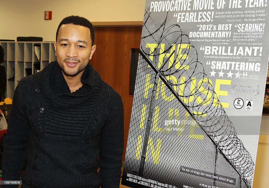 Singer John Legend attends 'The House I Live In' Washington DC Screening And Performance By John Legend at Shiloh Baptist Church on January 19, 2013 in Washington, DC.