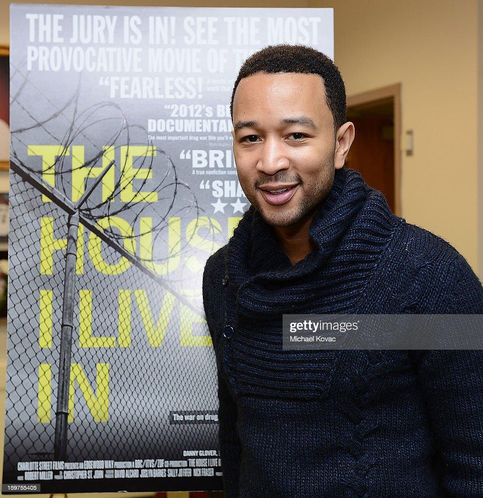 Singer John Legend attends 'The House I Live In' Washington DC screening at Shiloh Baptist Church on January 19, 2013 in Washington, DC.