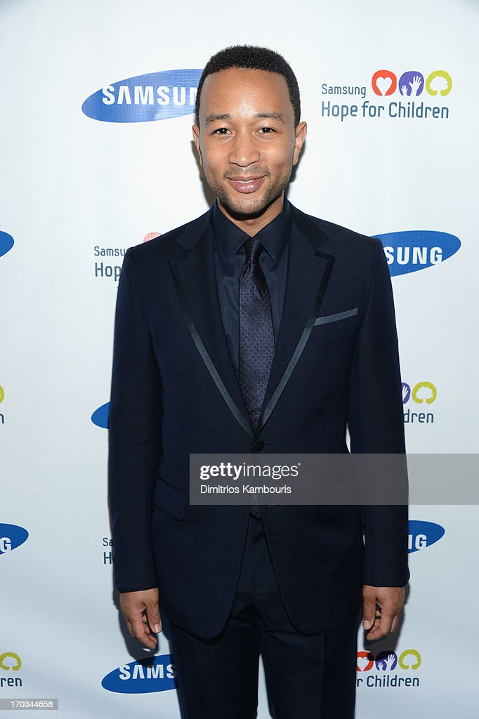 Singer <a gi-track='captionPersonalityLinkClicked' href=/galleries/search?phrase=John+Legend&family=editorial&specificpeople=201468 ng-click='$event.stopPropagation()'>John Legend</a> attends the Samsung's Annual Hope for Children Gala at Cipriani's in Wall Street on June 11, 2013 in New York City.