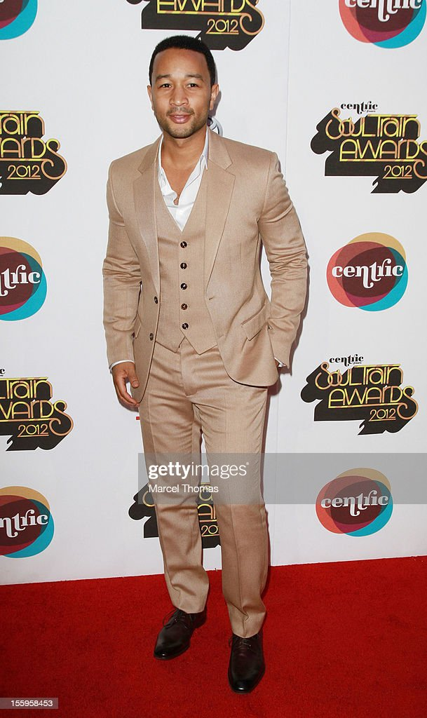 Singer <a gi-track='captionPersonalityLinkClicked' href=/galleries/search?phrase=John+Legend&family=editorial&specificpeople=201468 ng-click='$event.stopPropagation()'>John Legend</a> attends the Soul Train Awards 2012 at PH Live at Planet Hollywood Resort and Casino on November 8, 2012 in Las Vegas, Nevada.