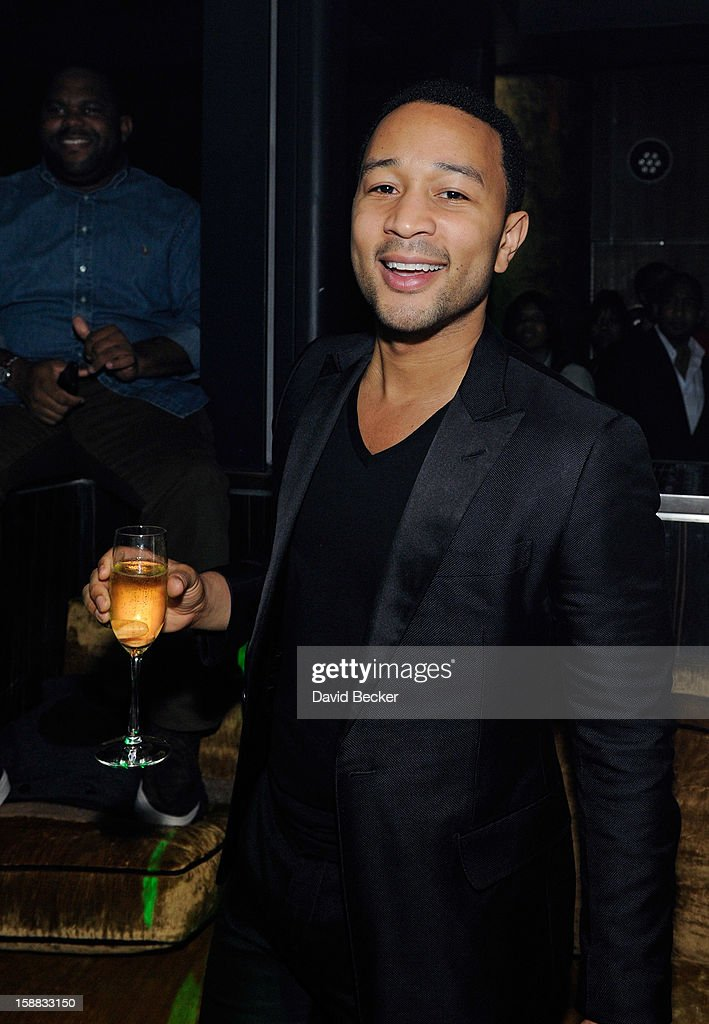 Singer John Legend celebrates his birthday at Haze Nightclub at the Aria Resort & Casino at CityCenter on December 30, 2012 in Las Vegas, Nevada.