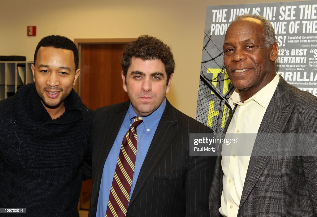 Singer John Legend, Director/writer Eugene Jarecki and actor Danny Glover attend 'The House I Live In' Washington DC Screening And Performance By John Legend at Shiloh Baptist Church on January 19, 2013 in Washington, DC.