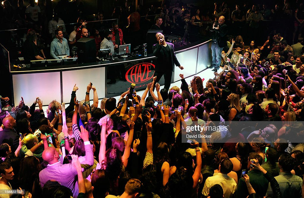 Singer John Legend performs at Haze Nightclub at the Aria Resort & Casino at CityCenter on December 30, 2012 in Las Vegas, Nevada.