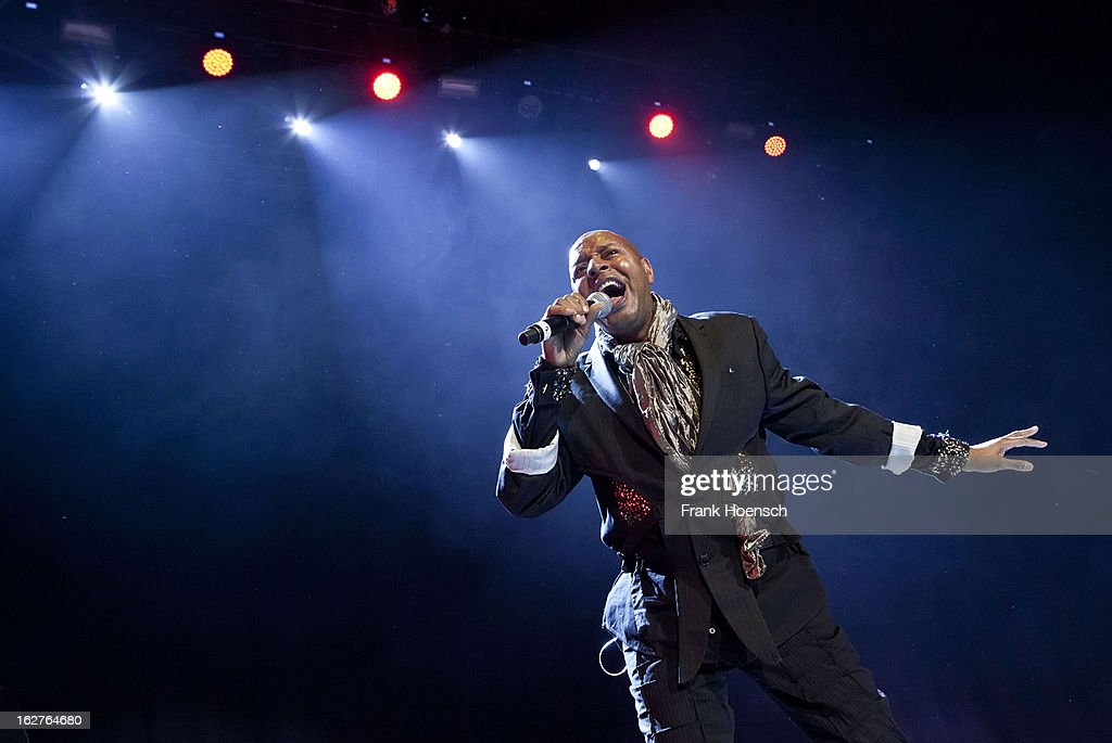 Singer John Leslie 'Leee John' McGregor of Imagination performs live during 'Die ultimative Chartshow Live On Stage' at the Max-Schmeling-Halle on February 25, 2013 in Berlin, Germany.
