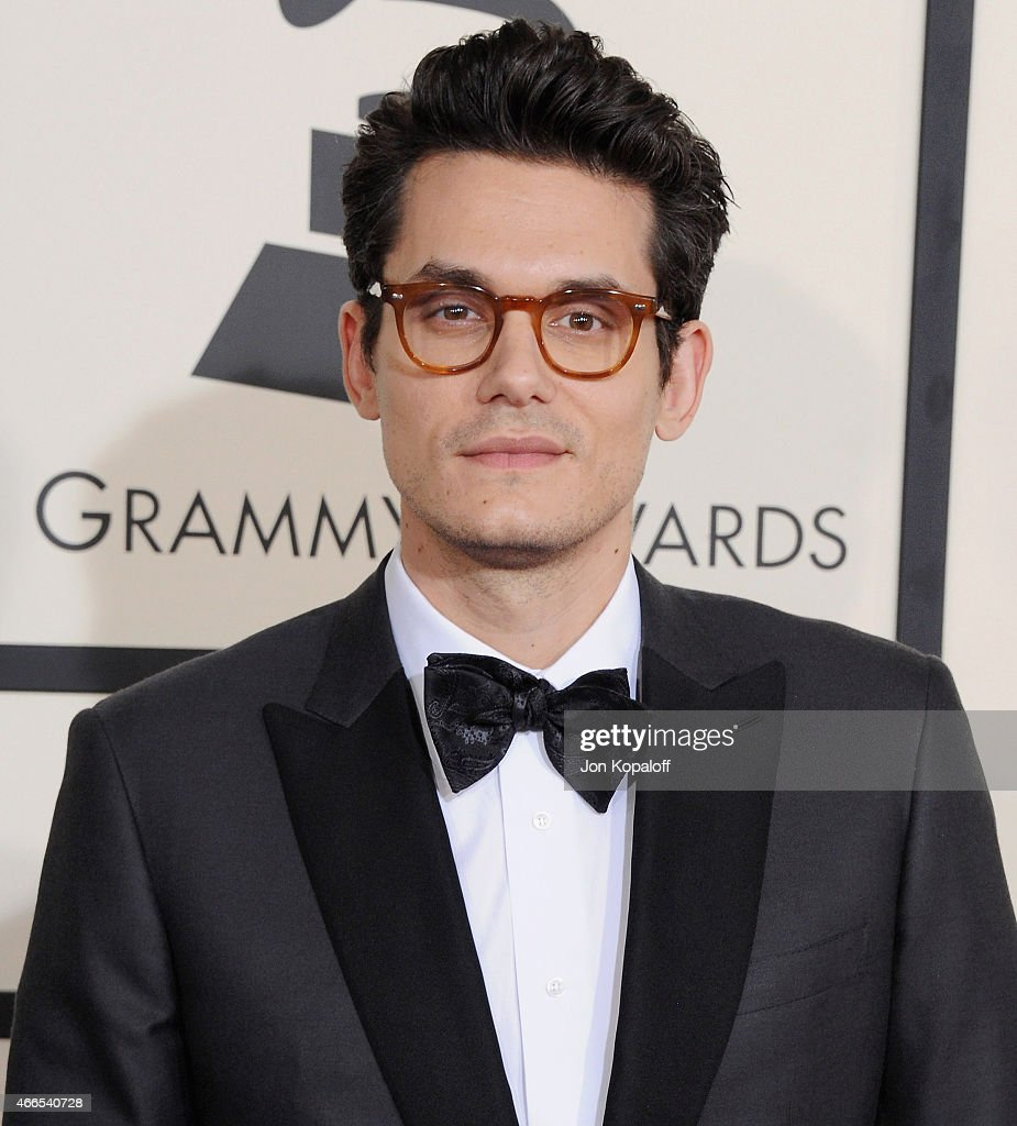 Singer <a gi-track='captionPersonalityLinkClicked' href=/galleries/search?phrase=John+Mayer&family=editorial&specificpeople=201930 ng-click='$event.stopPropagation()'>John Mayer</a> arrives at the 57th GRAMMY Awards at Staples Center on February 8, 2015 in Los Angeles, California.