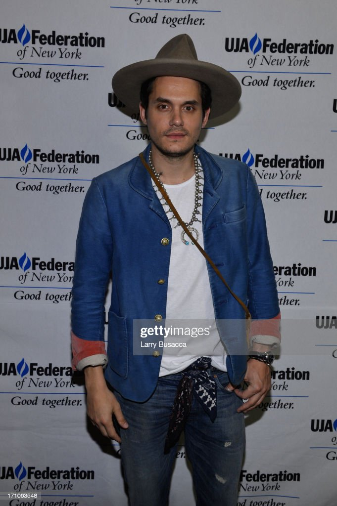 Singer <a gi-track='captionPersonalityLinkClicked' href=/galleries/search?phrase=John+Mayer&family=editorial&specificpeople=201930 ng-click='$event.stopPropagation()'>John Mayer</a> attends a luncheon honoring Rob Stringer as UJA-Federation of New York Music Visionary of 2013 at The Pierre Hotel on June 21, 2013 in New York City.