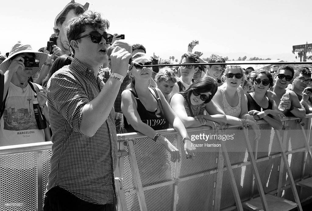 Singer John Paul Pitts of Surfer Blood performs onstage during day 3 of the 2014 Coachella Valley Music & Arts Festival at the Empire Polo Club on April 13, 2014 in Indio, California.