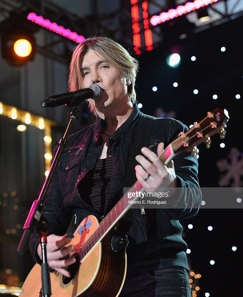 Singer John Rzeznik of the Goo Goo Dolls performs at the 82nd Annual Hollywood Christmas Parade on December 1 2013 in Hollywood California