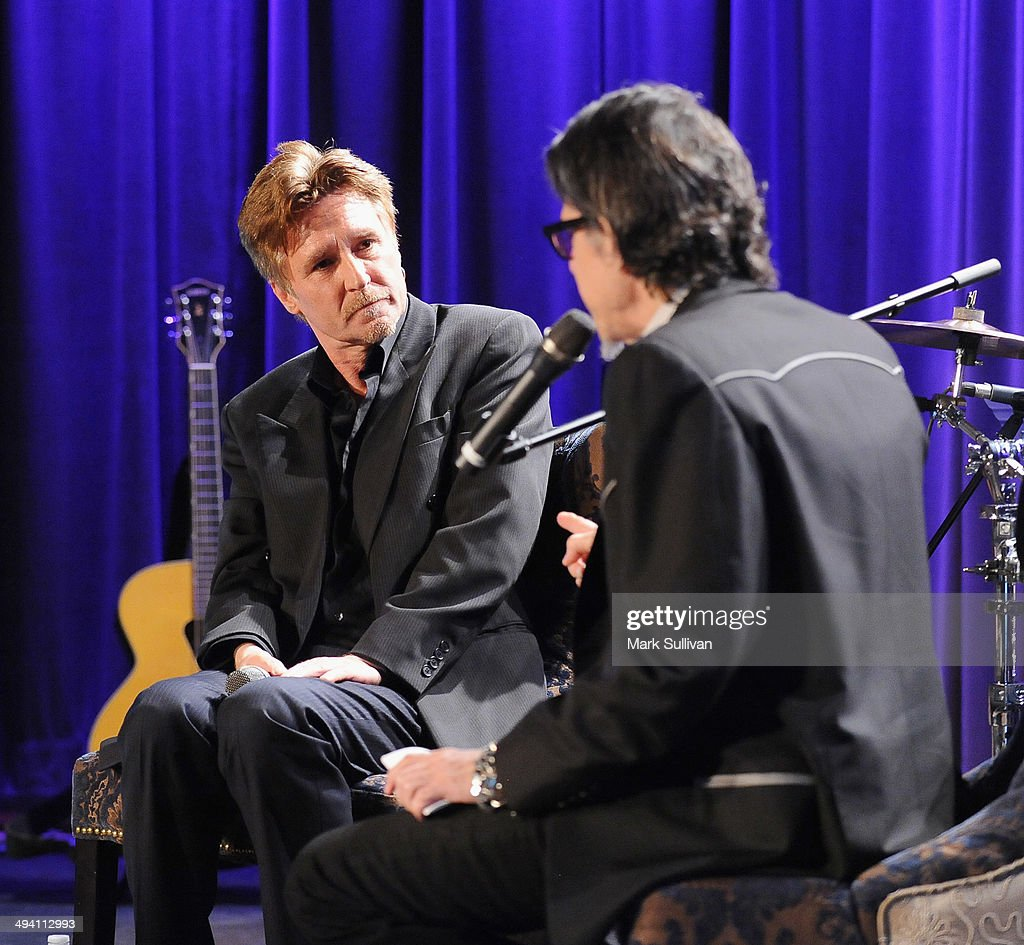 Singer John Waite (L) and Vice President of the GRAMMY Foundation Scott Goldman during An Evening with John Waite at The GRAMMY Museum on May 27, 2014 in Los Angeles, California.