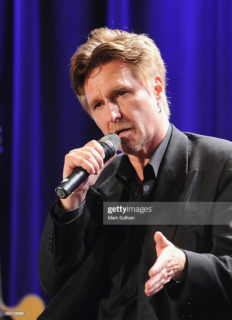 Singer John Waite onstage during An Evening with John Waite at The GRAMMY Museum on May 27, 2014 in Los Angeles, California.