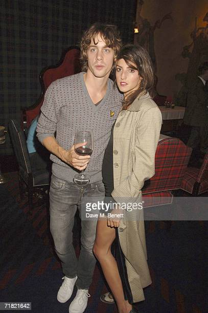 Singer Johnny Borrell from Razorlight and guest attend the Robert Mapplethorpe 'Still Moving and Lady' exhibition after party at the Dorchester on...
