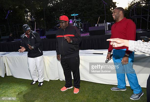 Singer Johnny Gill and actors Cedric the Entertainer and Anthony Anderson attended the 8th Annual George Lopez Celebrity Golf Classic presented by...
